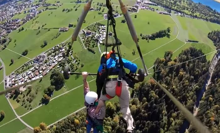 Hang-gliding accident video