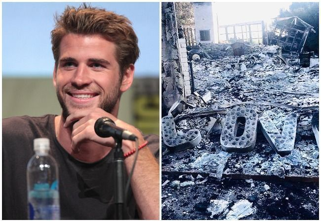 Liam Hemsworth fire