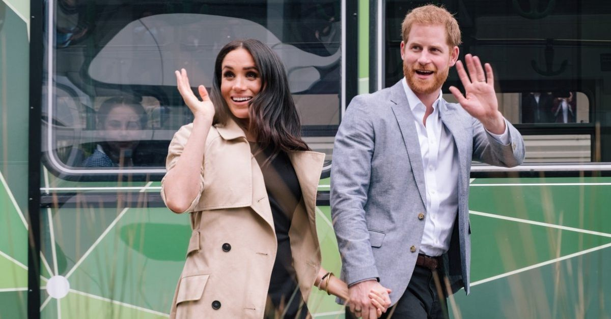 Meghan Markle Shows Off Royal Baby Bump in Stunning Embellished Top