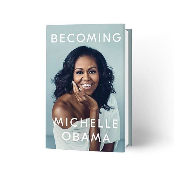 "Michelle Obama's ""Becoming"" book cover"