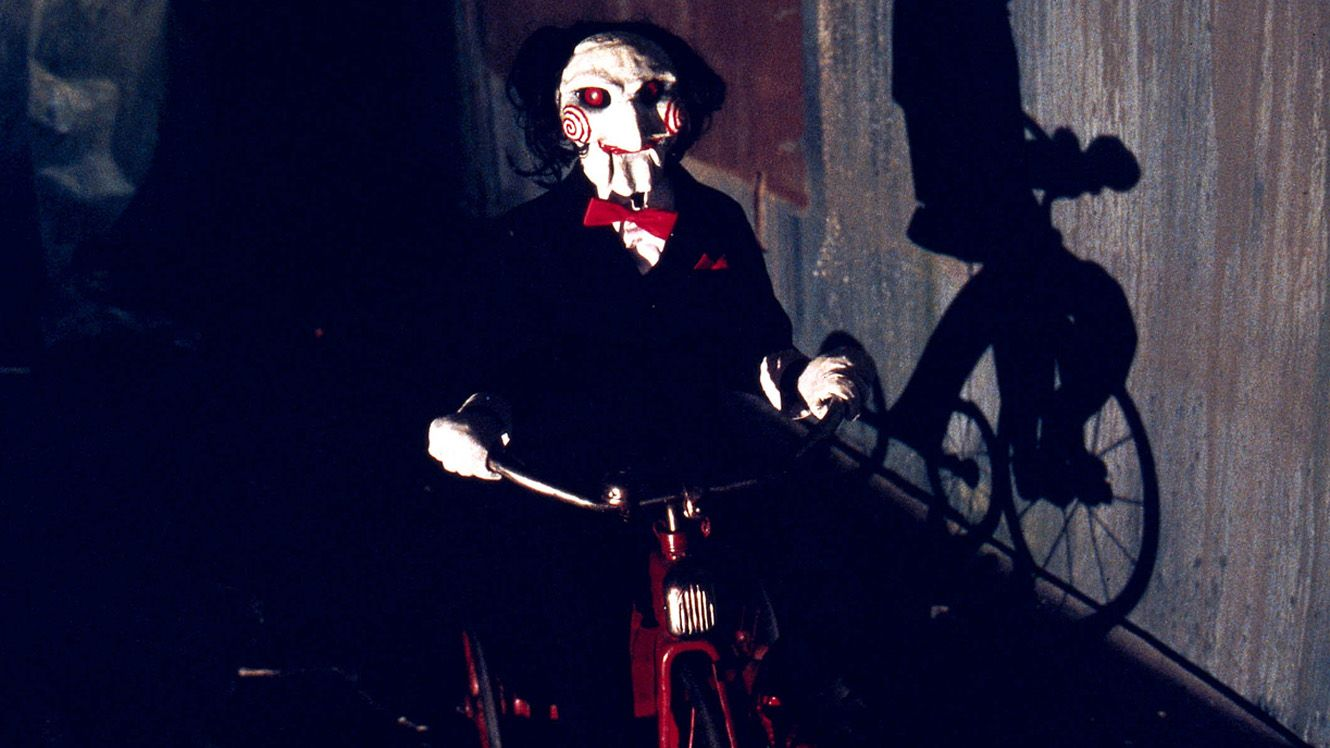 """""""Jigsaw"""" on his tricycle in 'Saw'"""