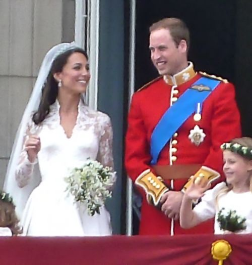 William and Kate on Wedding day
