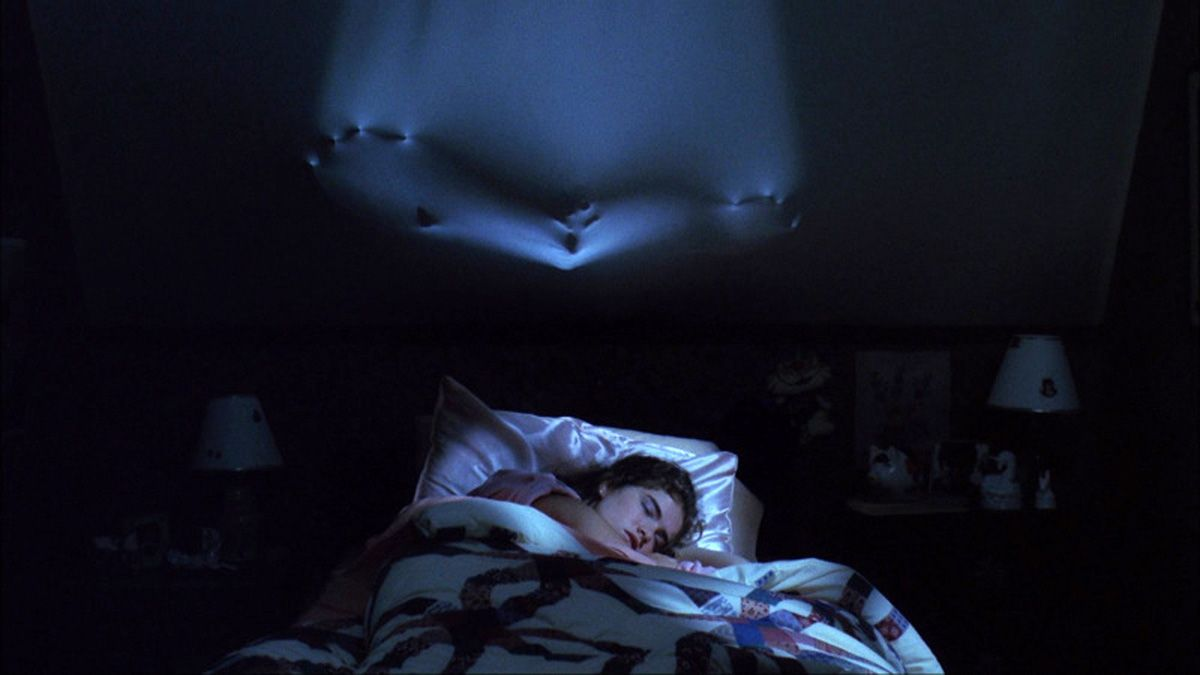 "Heather Langenkamp as ""Nancy"" trapped in a nightmare in 'A Nightmare on Elm Street'"