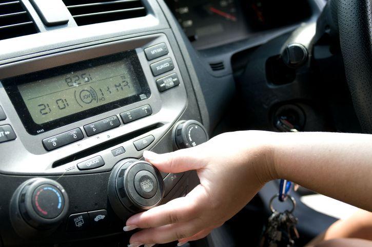 adjusting the radio