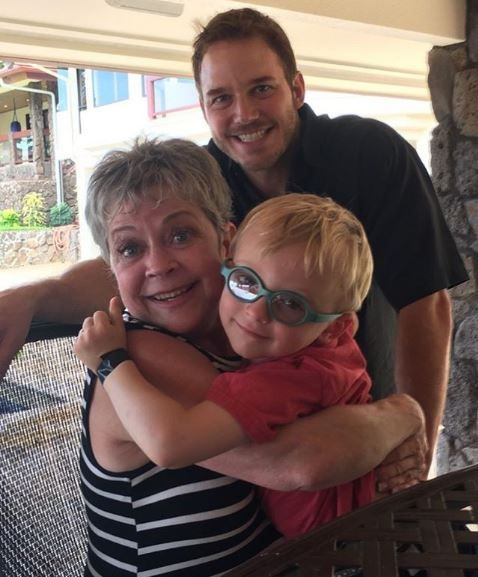Chris Pratt, his mother, and Jack