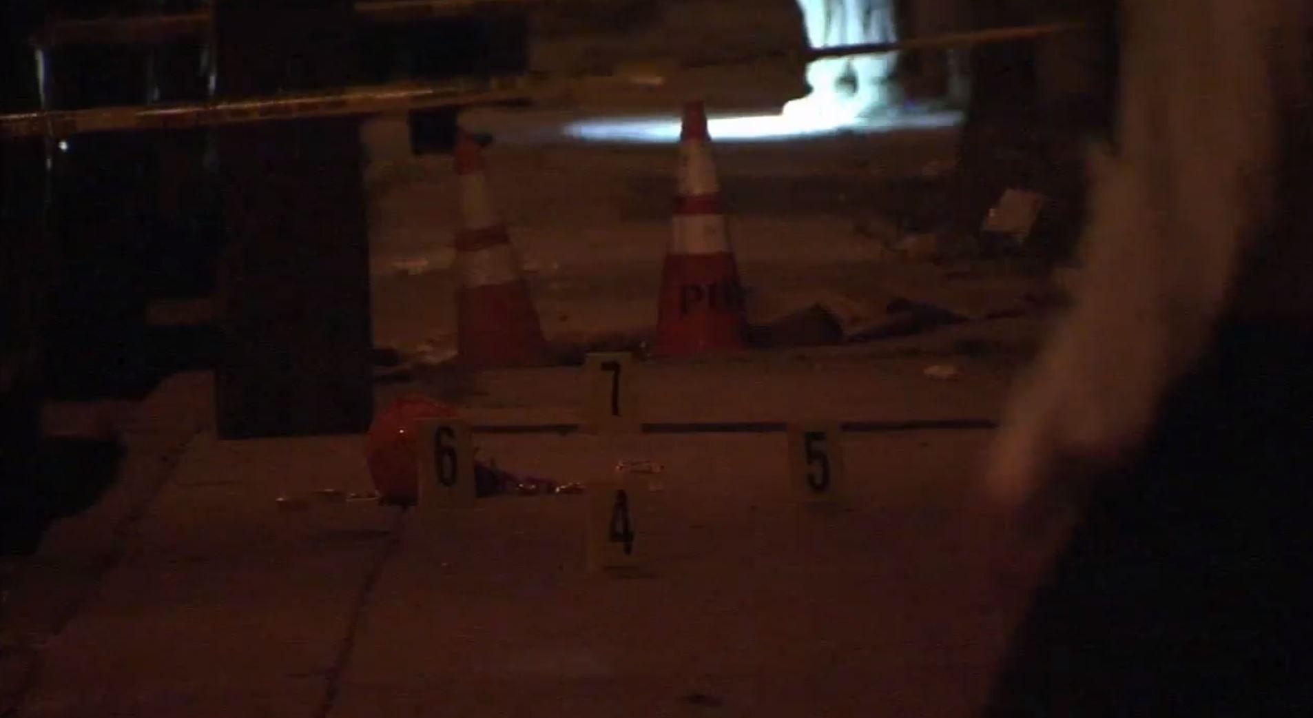 Crime Scene of halloween shooting