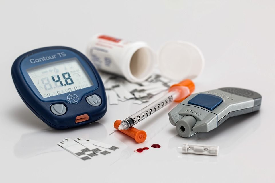 Diabetes monitor and insulin
