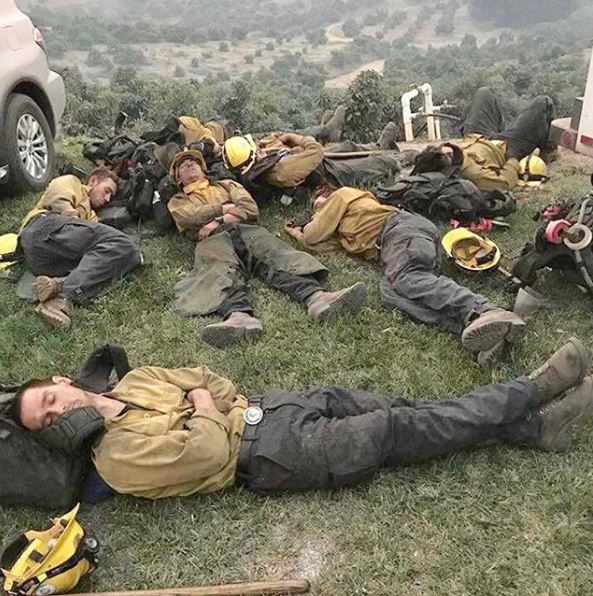 Firefighters exhausted battling wildfires