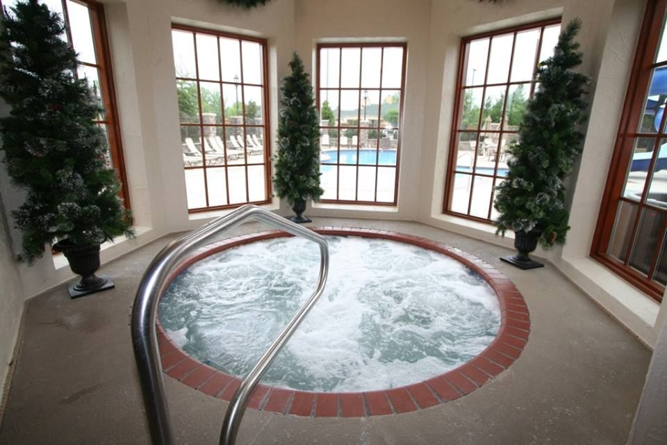 The hot tub at The Inn at Christmas Place