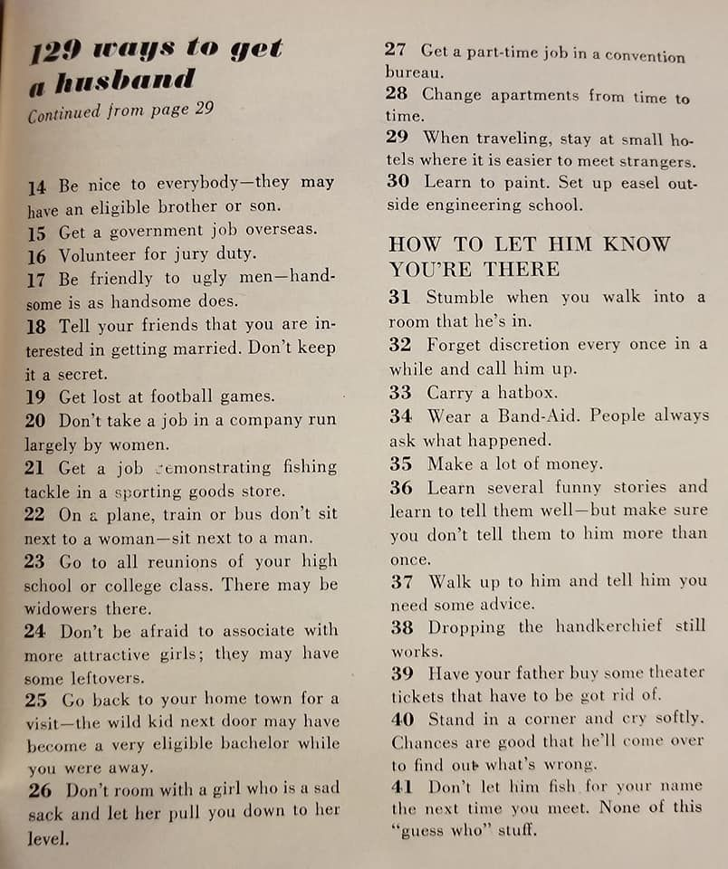 How to get a husband 1958