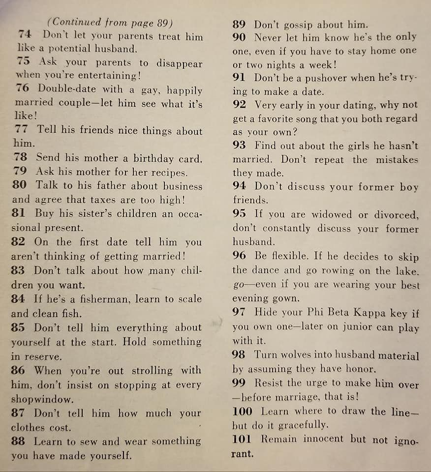 How to get a husband in 1958