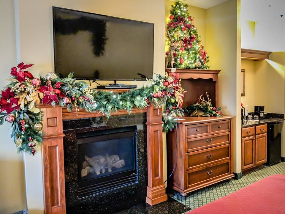 Inside a bedroom at The Inn at Christmas Place