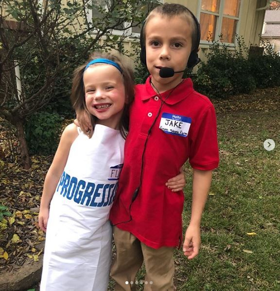Gannon and Jaxie dressed up for Halloween