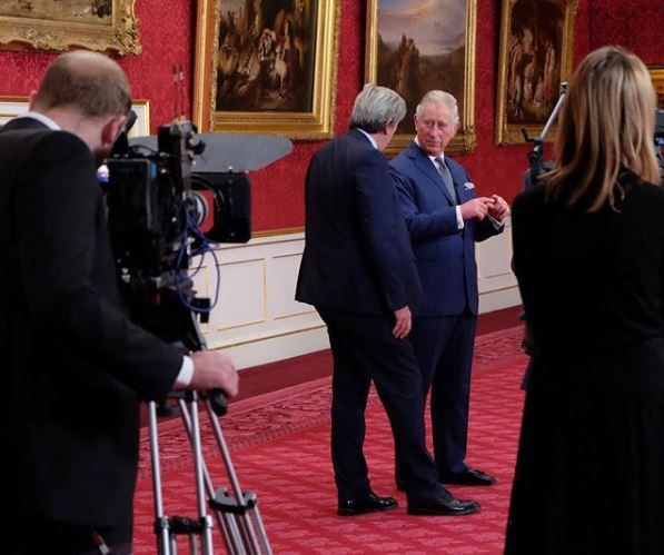 Prince Charles prepping for an interview