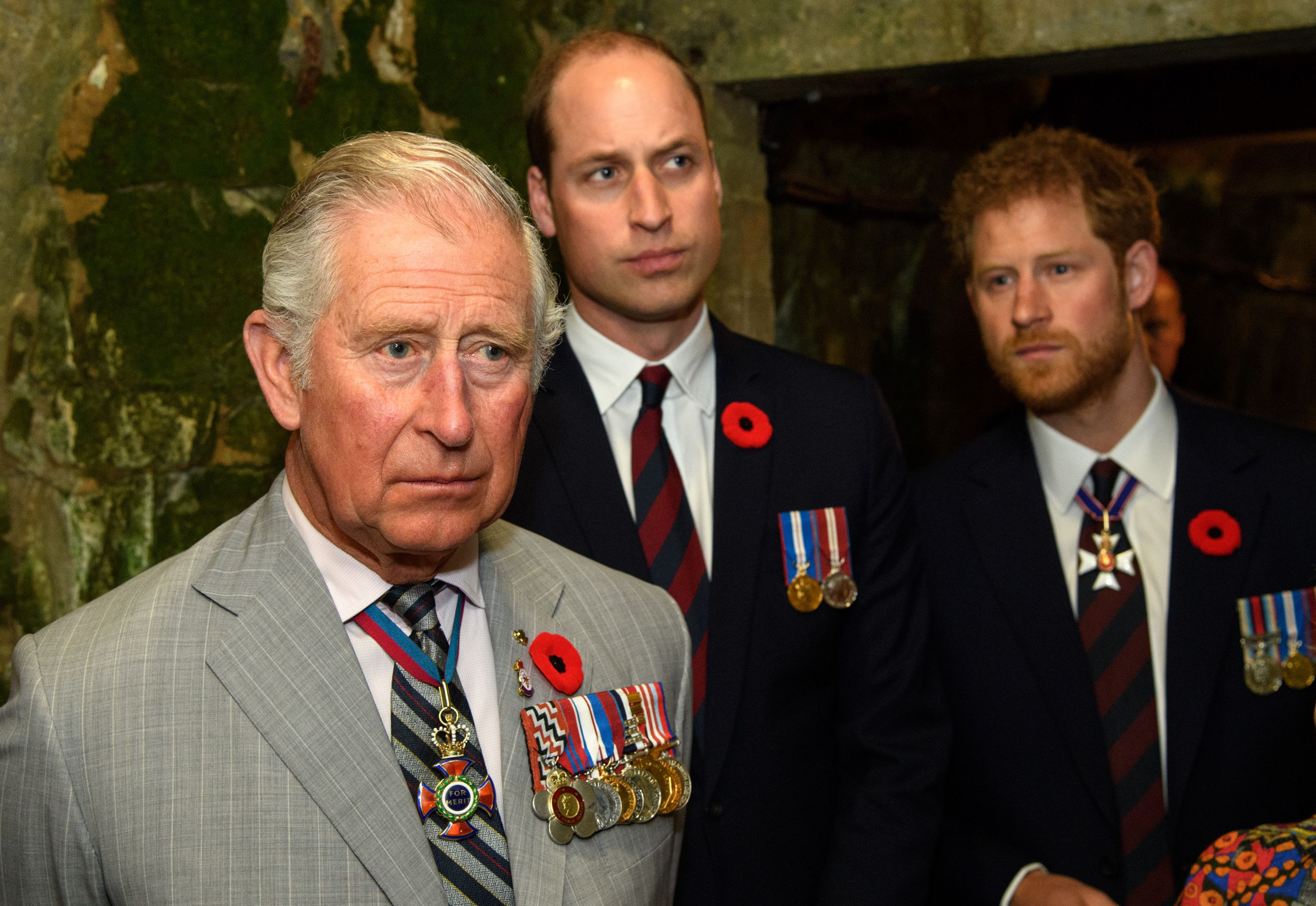 Prince Charles, Prince William, and Prince Harry