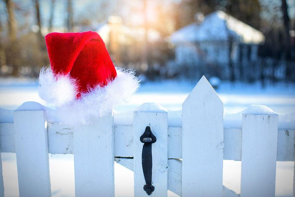 White Christmas Santa Hat