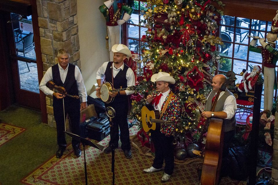 A live band at The Inn at Christmas Place