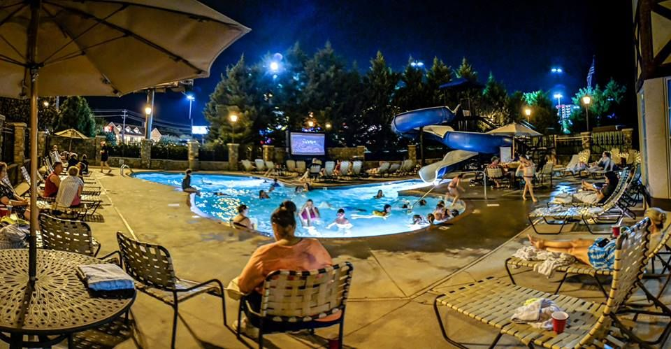 The outdoor pool at The Inn at Christmas Place