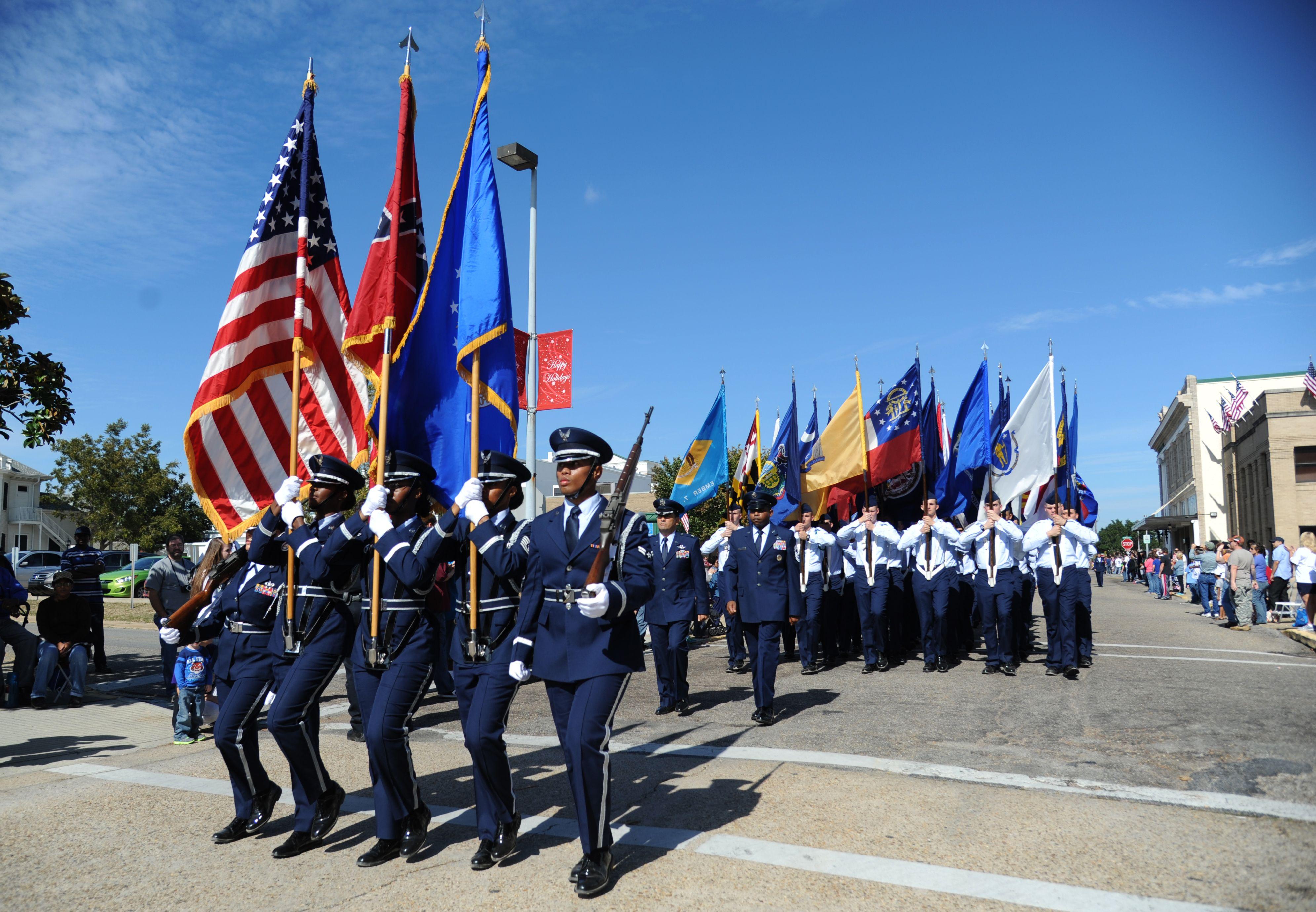 Veterans Day parade in Biloxi, Mississippi.