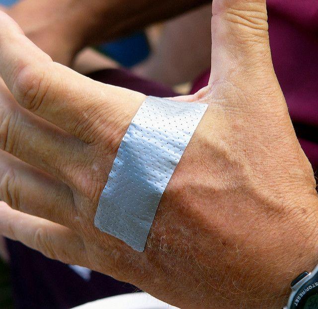 Duct tape bandage