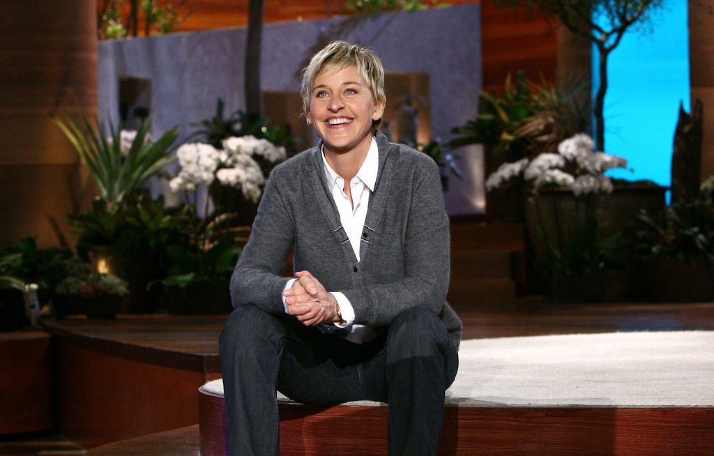 Ellen DeGeneres on the set of her talk show