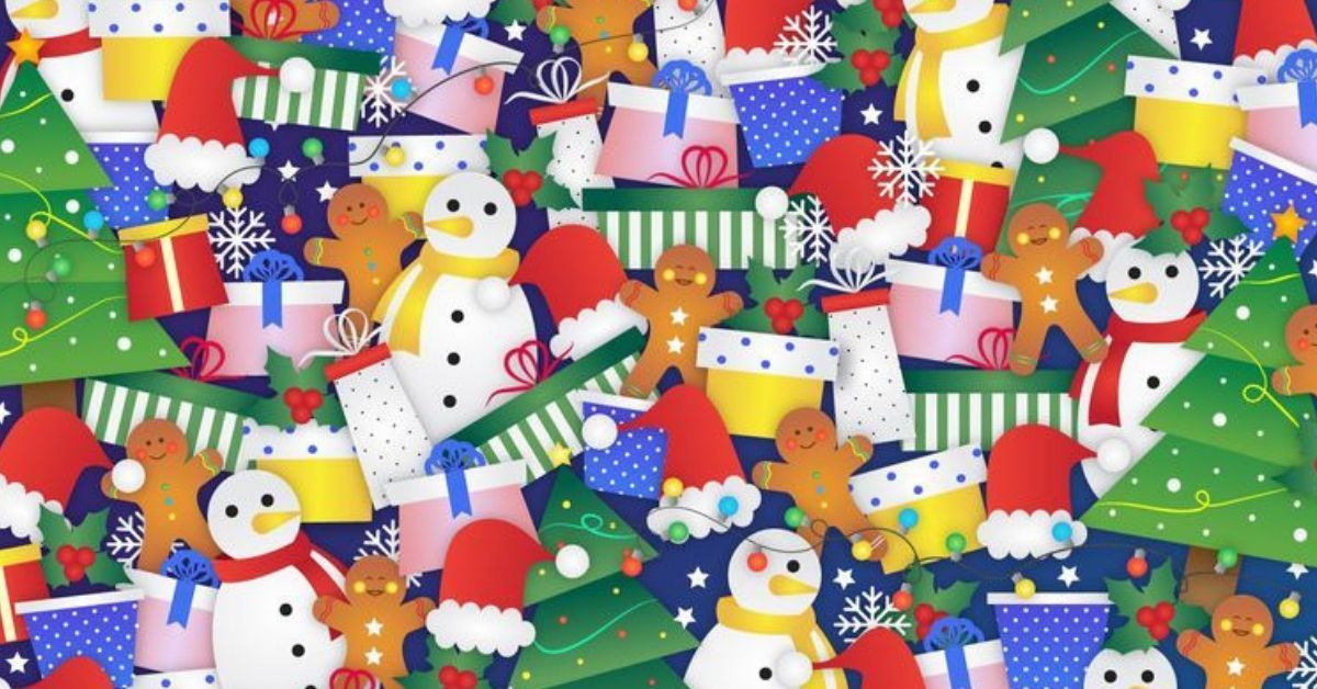 Christmas Brain Teasers.There S A Stocking Hiding In This Festive Photo Can You