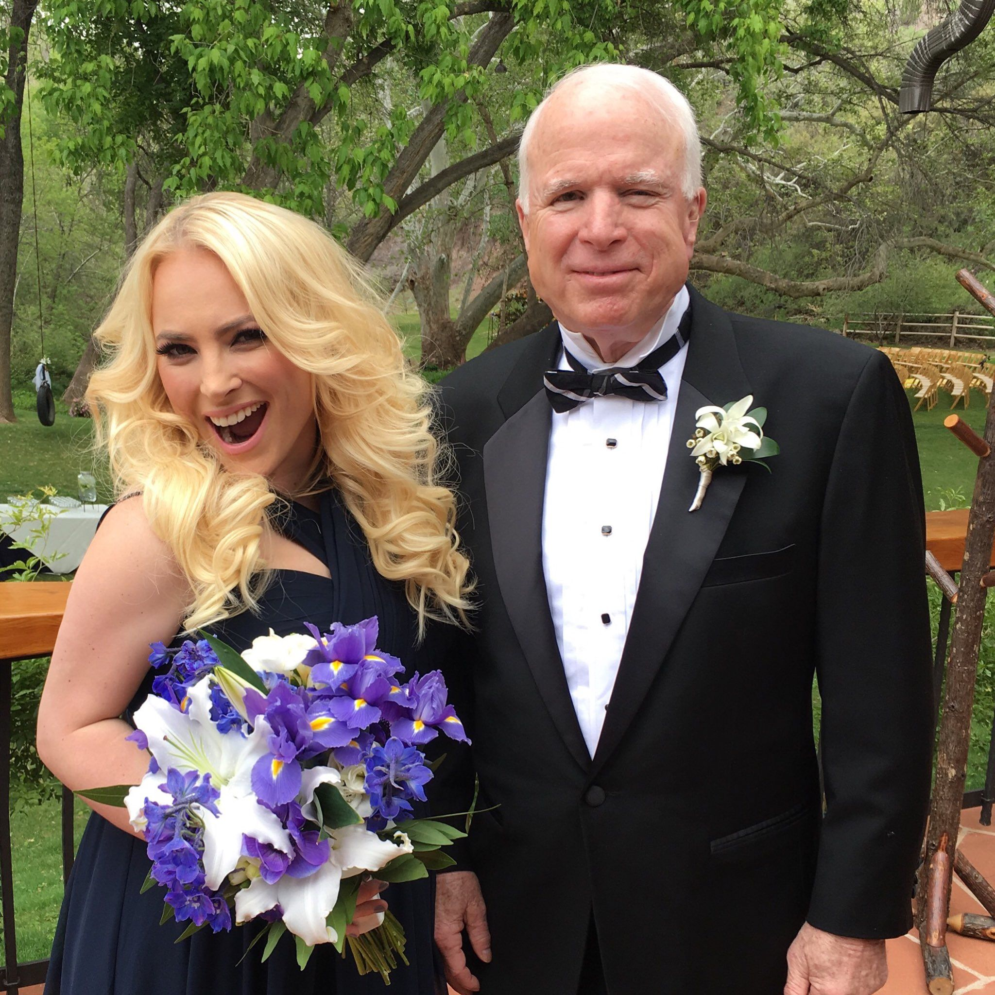 Meghan and John McCain