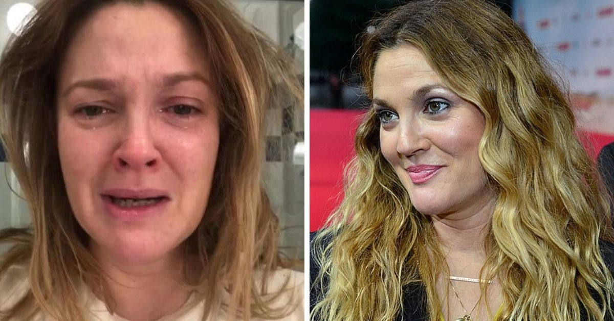 Drew Barrymore crying selfie on Instagram