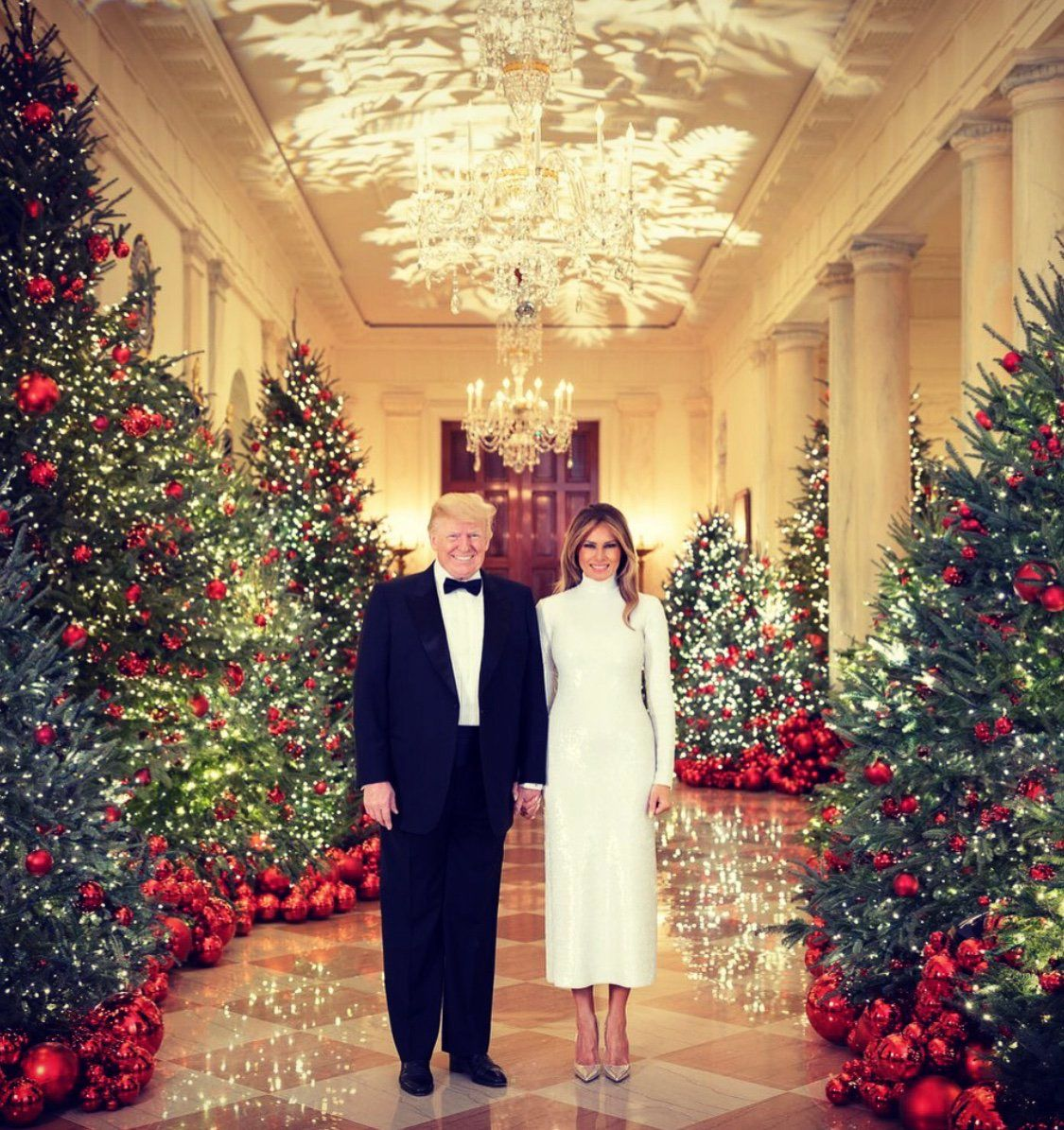 Donald and Melania Trump's Christmas Portrait