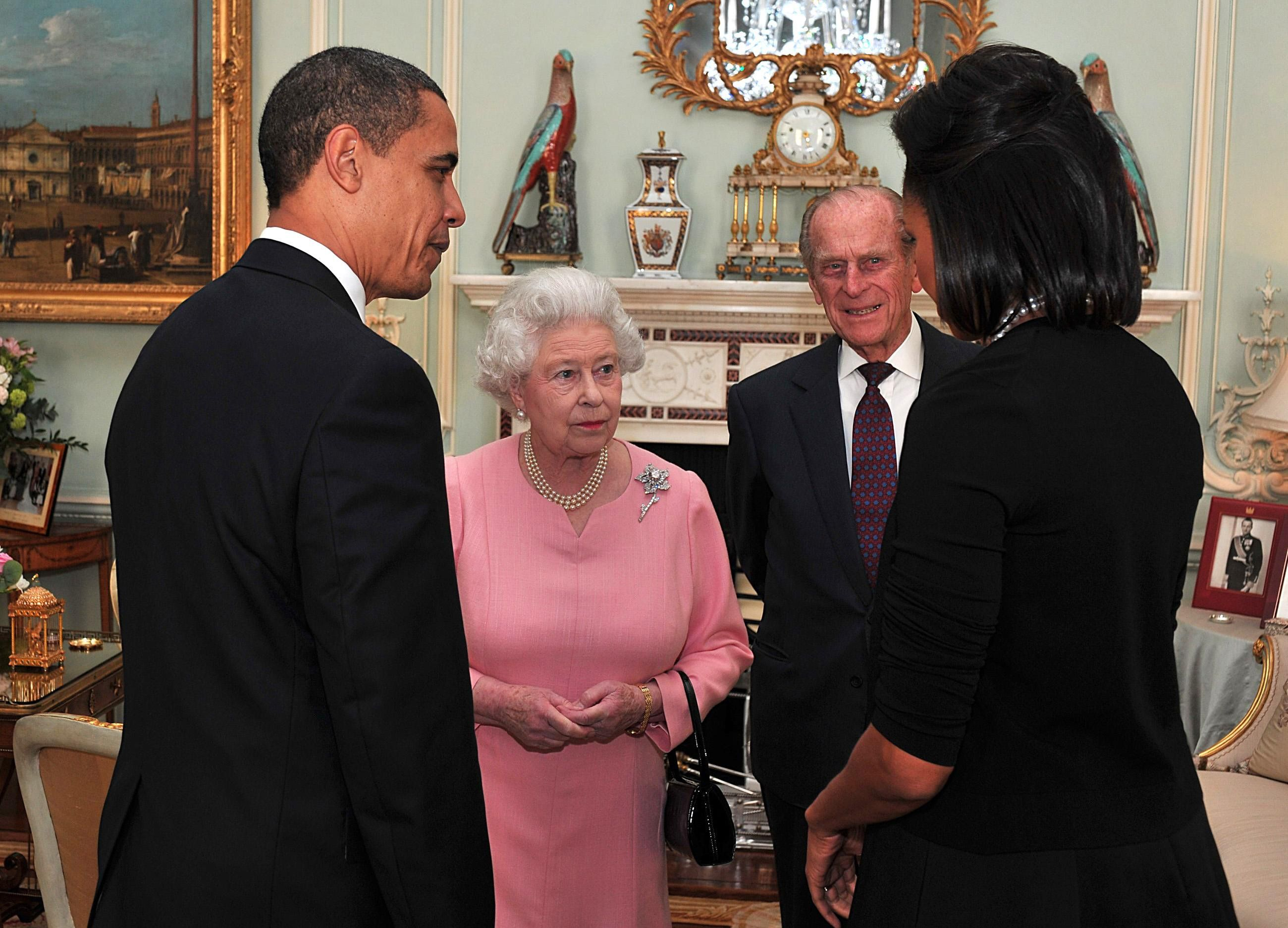 Queen Elizabeth, Barack Obama, Prince Philip, Michelle Obama