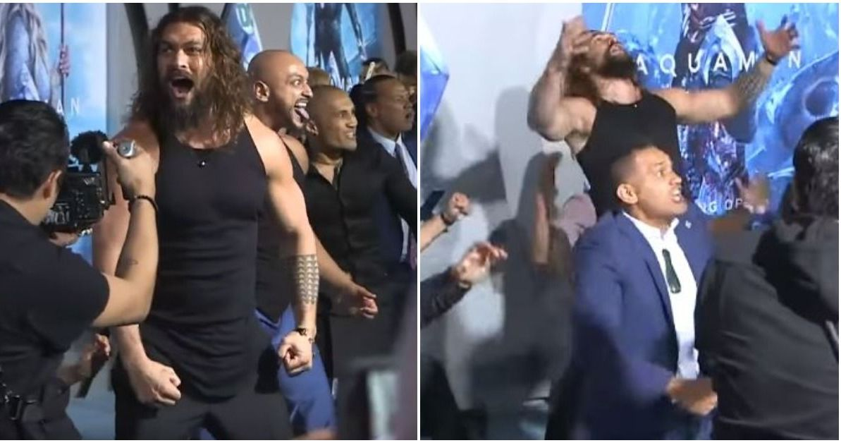 The haka takes centre stage at 'Aquaman' premiere in LA