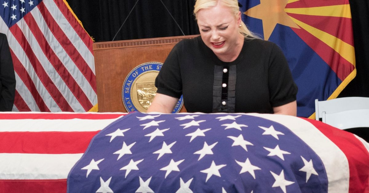 Meghan McCain at her father's funeral