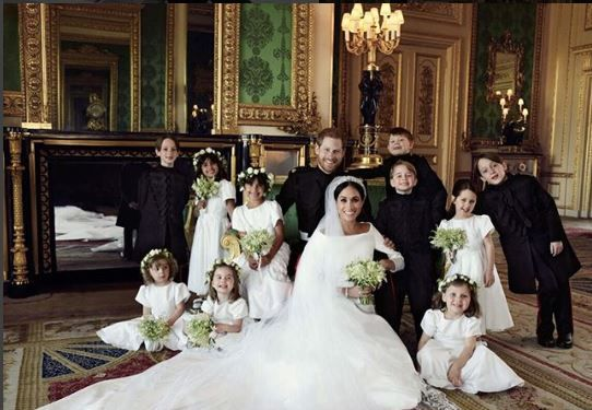 Meghan and Harry Wedding portrait