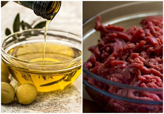 Olive oil red meat