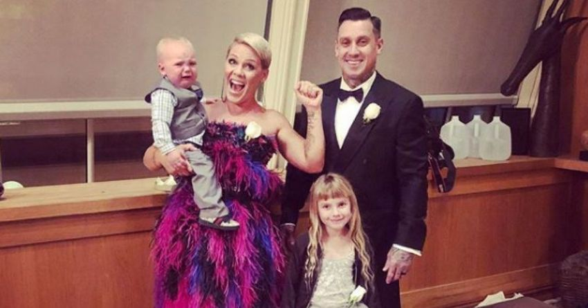 Pink, Carey Hart and their two children