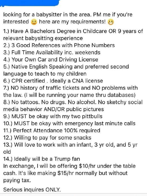 Babysitting rules