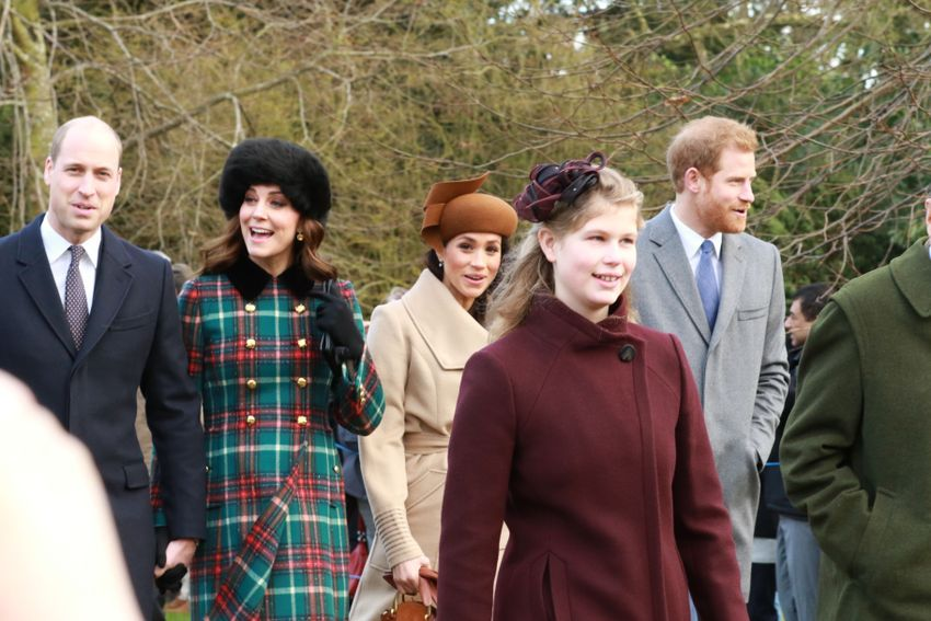 Prince William, Kate Middleton, Prince Harry, Meghan Markle, and other members of the royal family attend Christmas service
