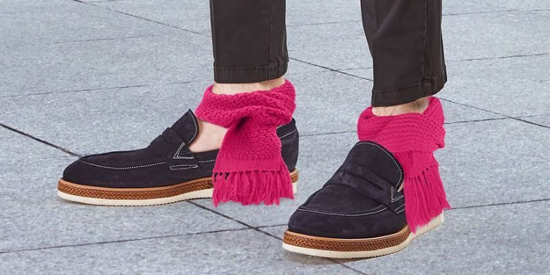 Scarves around ankles
