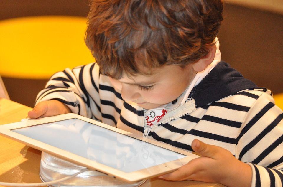 Kid on a tablet