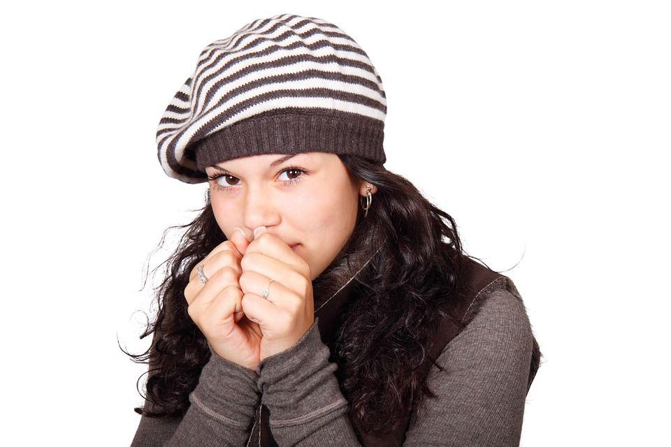 Woman feeling cold