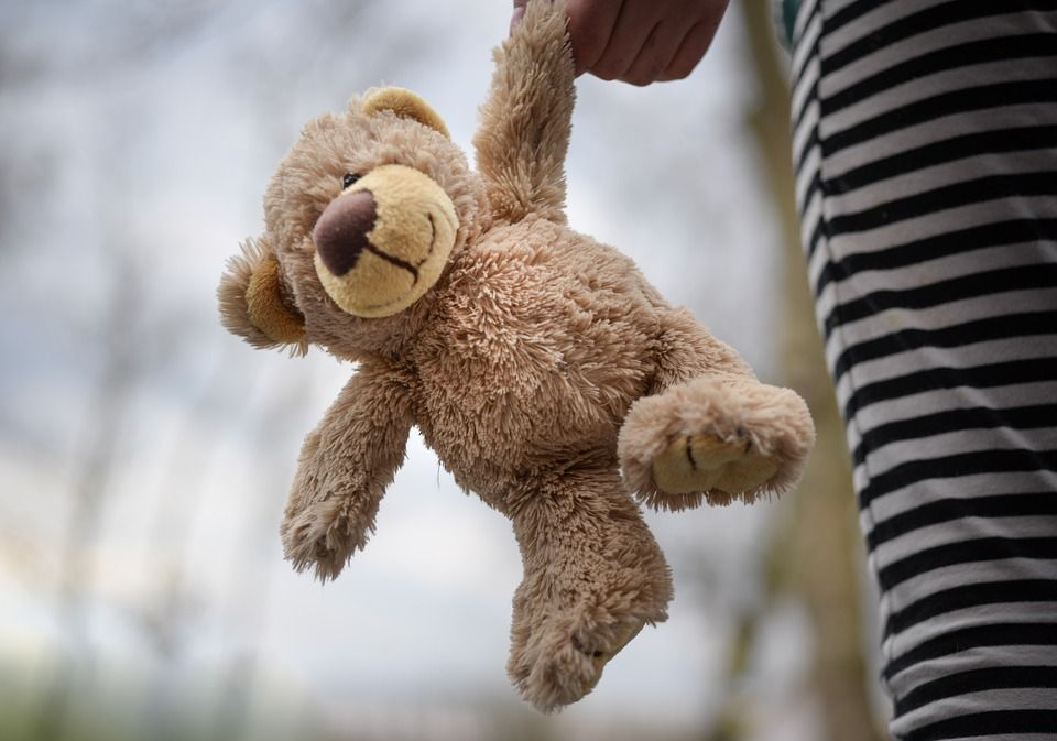 teddy bear with person