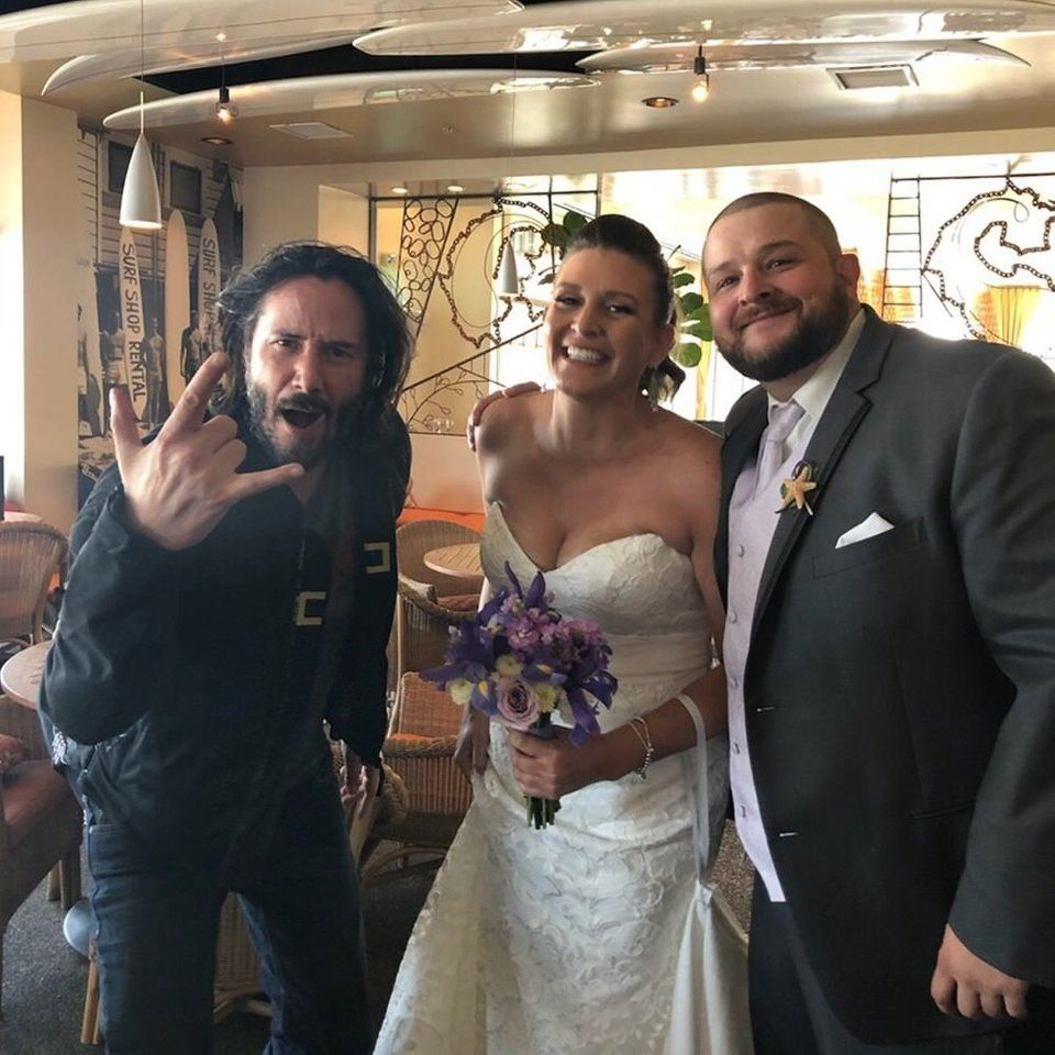 Keanu Reeves Wedding Crashes