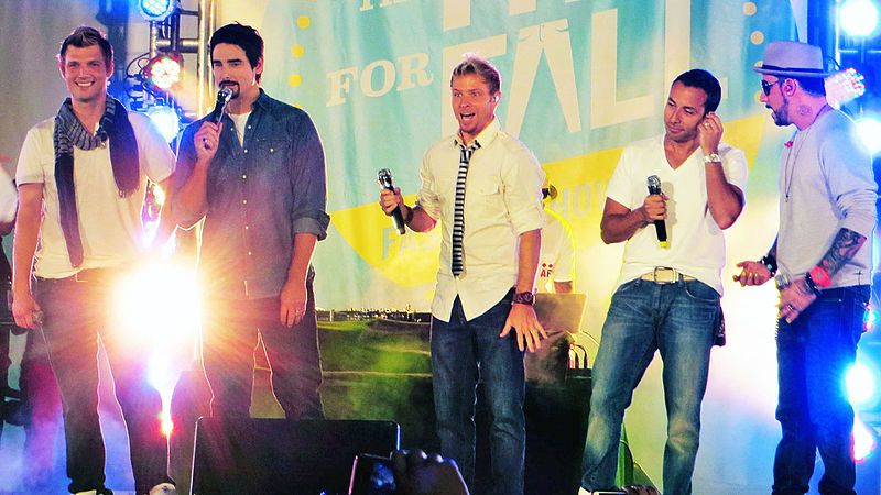 Backstreet Boys performing