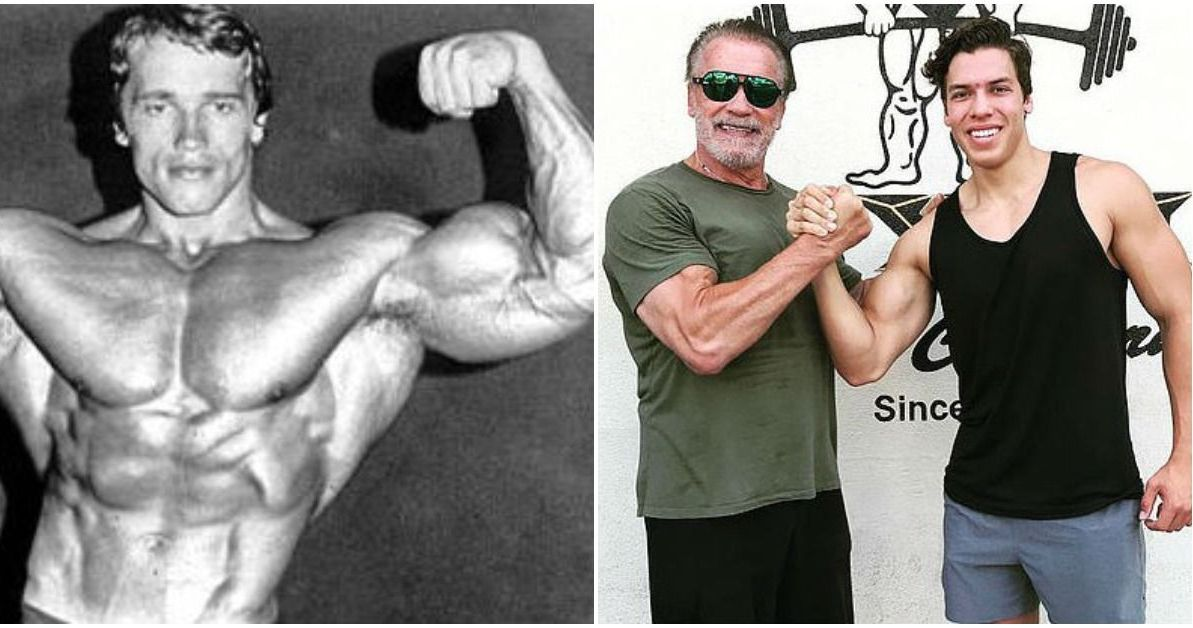 Schwarzeneggers Son Recreates His Famous Photos At The Gym