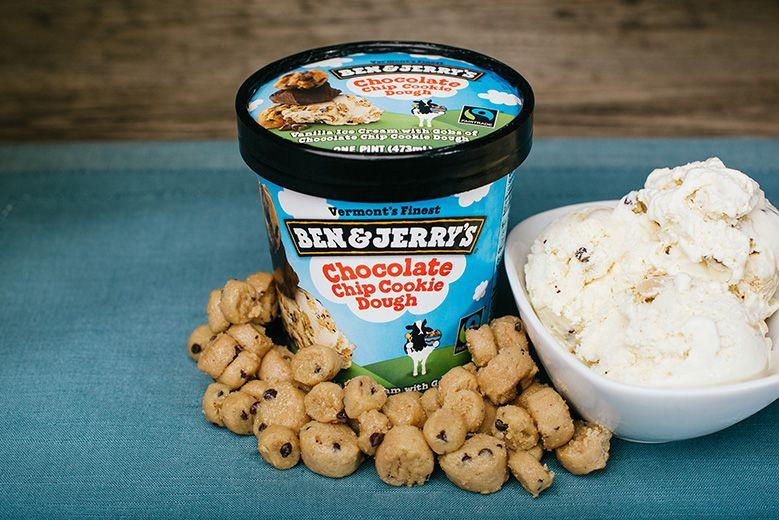 Ben & Jerrys' cookie dough ice cream