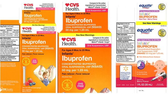 Liquid infant ibuprofen recall
