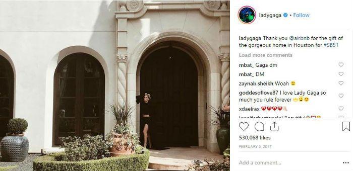 Lady Gaga Houston Airbnb