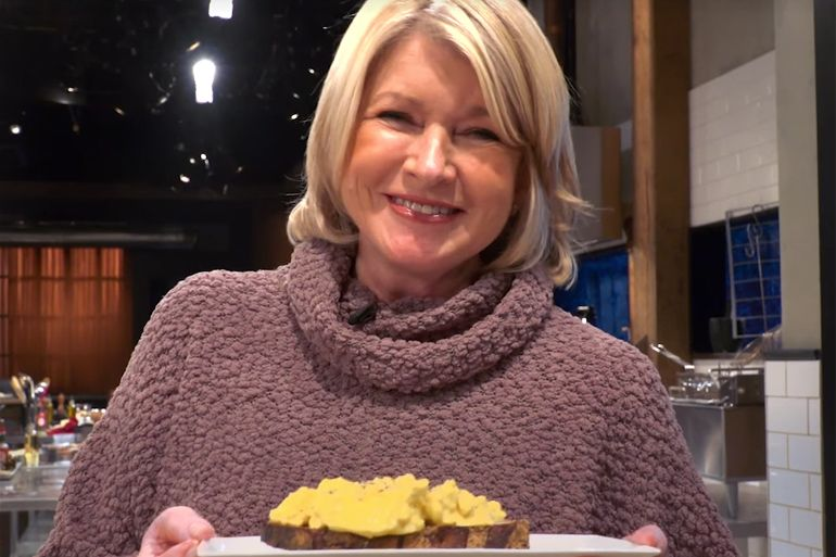 Martha Stewart and her scrambled eggs