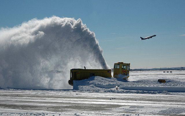 Logan Airport winter