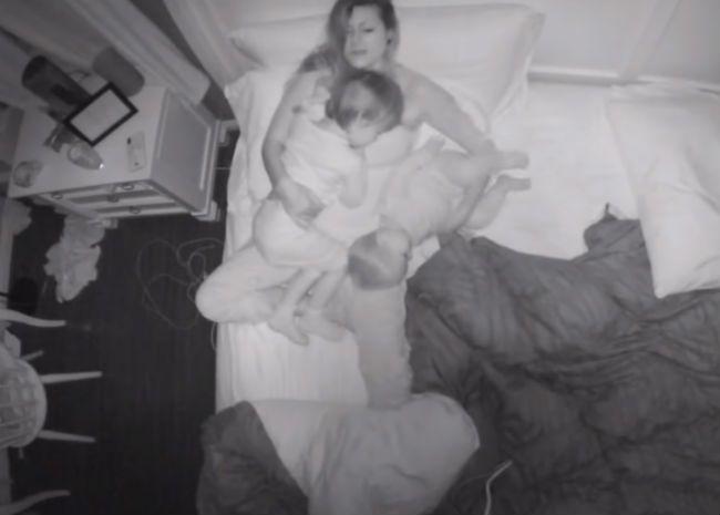 Sleeping family